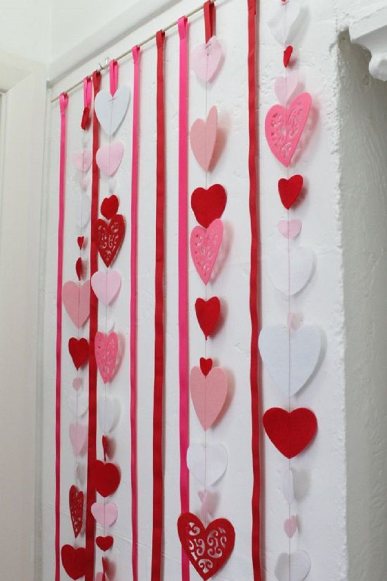 9f6a9c526 Love Heart Backdrop Tutorial - 15 Lovey-Dovey DIY Valentine's Day  Decorations to Celebrate Love
