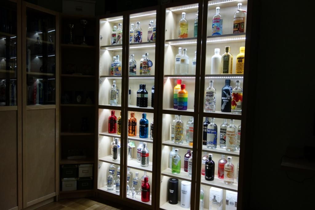 Absolut Vodka Forum Ikea Billy Bookcase Led Display For