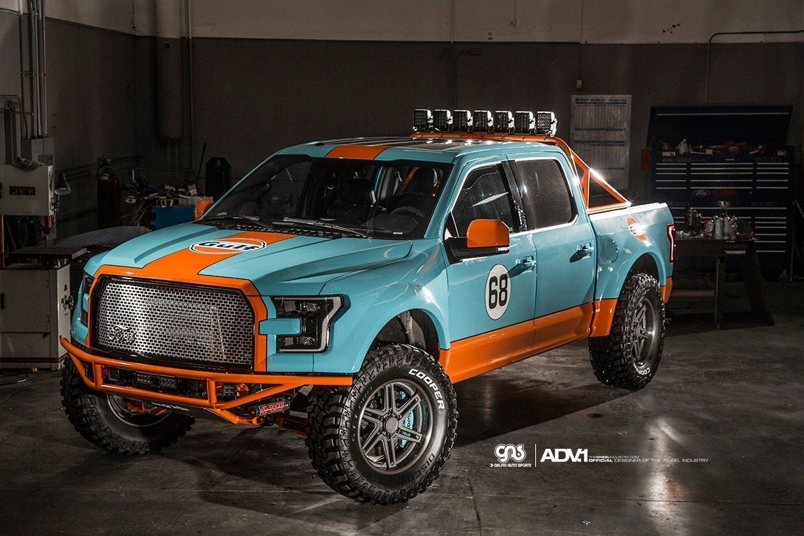 Cool Off Roader With An Old School Racing Paint Job Ford F150 Ford Ranger Raptor Gulf Racing Colours