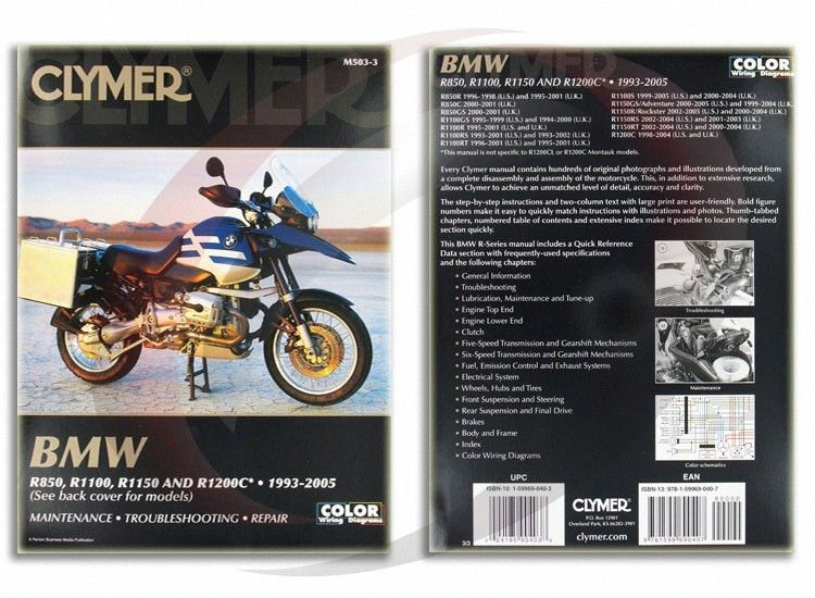 2000 2005 Bmw R1150gs Adventure Repair Manual Clymer M503 3 Service Shop Garage Clymer Repair Manuals Bmw