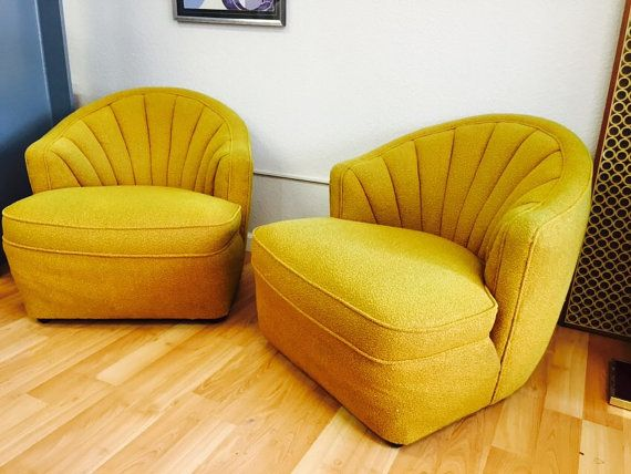 1950's pair mid century Hollywood Regency Lounge by thetouch956