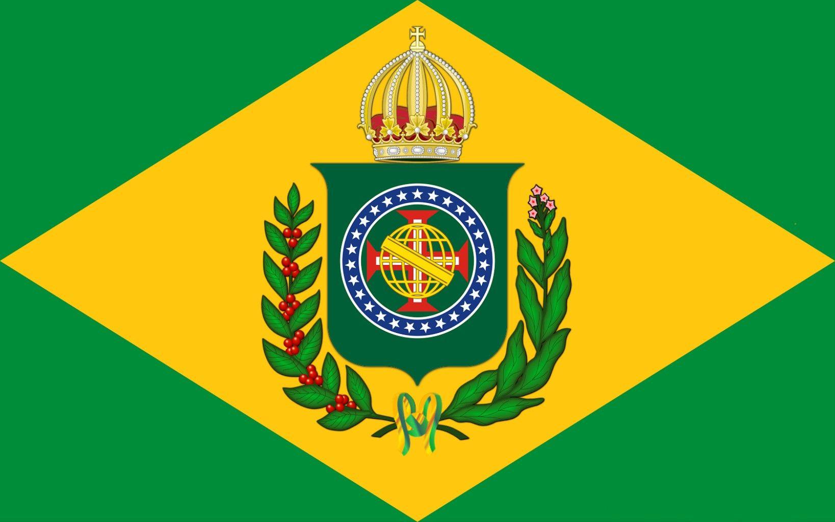 Bandeira Imperio Do Brasil Atualizada Flag Empire Of Brazil