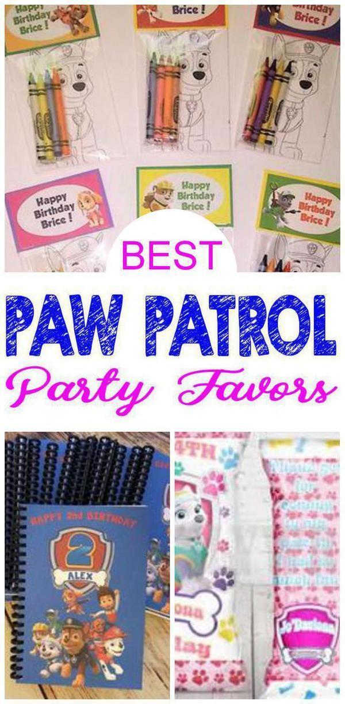 Paw Patrol favors