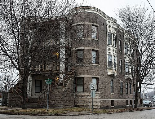 Superb Springfield IL   Interesting Old Apartment Building In Vinegar Hill By  Myoldpostcards, Via Flickr
