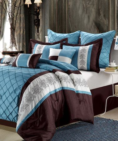 Blue Omma Comforter Set By Chic Home Design On