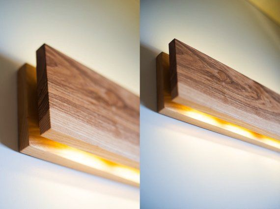 Wall lamp sc handmade ash wood sconce wooden sconce wood