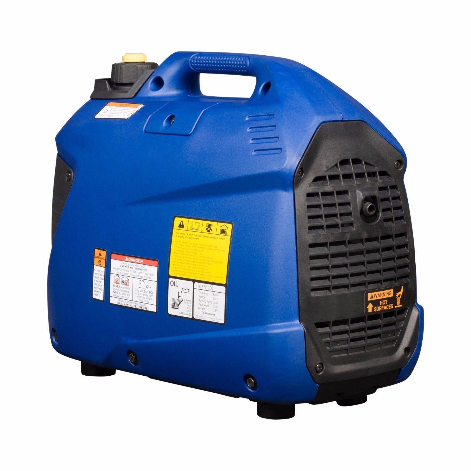 Gas Generators Portable Inverter 1200W Gasoline Powered Emergency