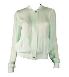 Joie Mint Silk Empire Jacket