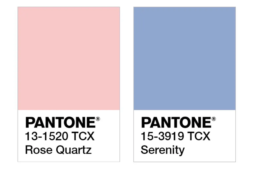 a look back at every pantone color of the year ever in 2020 serenity 2955c paint 347c