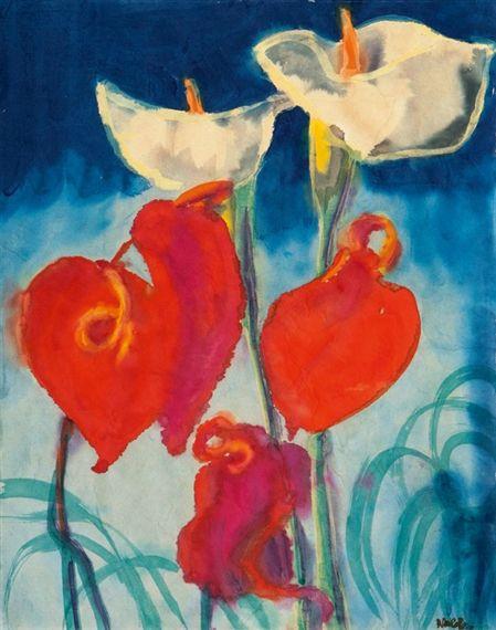 Callas and Anthuriums - Emil Nolde