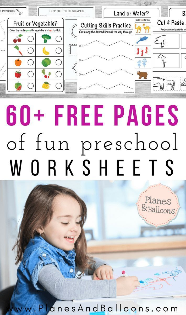 Photo of 400+ Free preschool worksheets in PDF format to print – Planes & Balloons