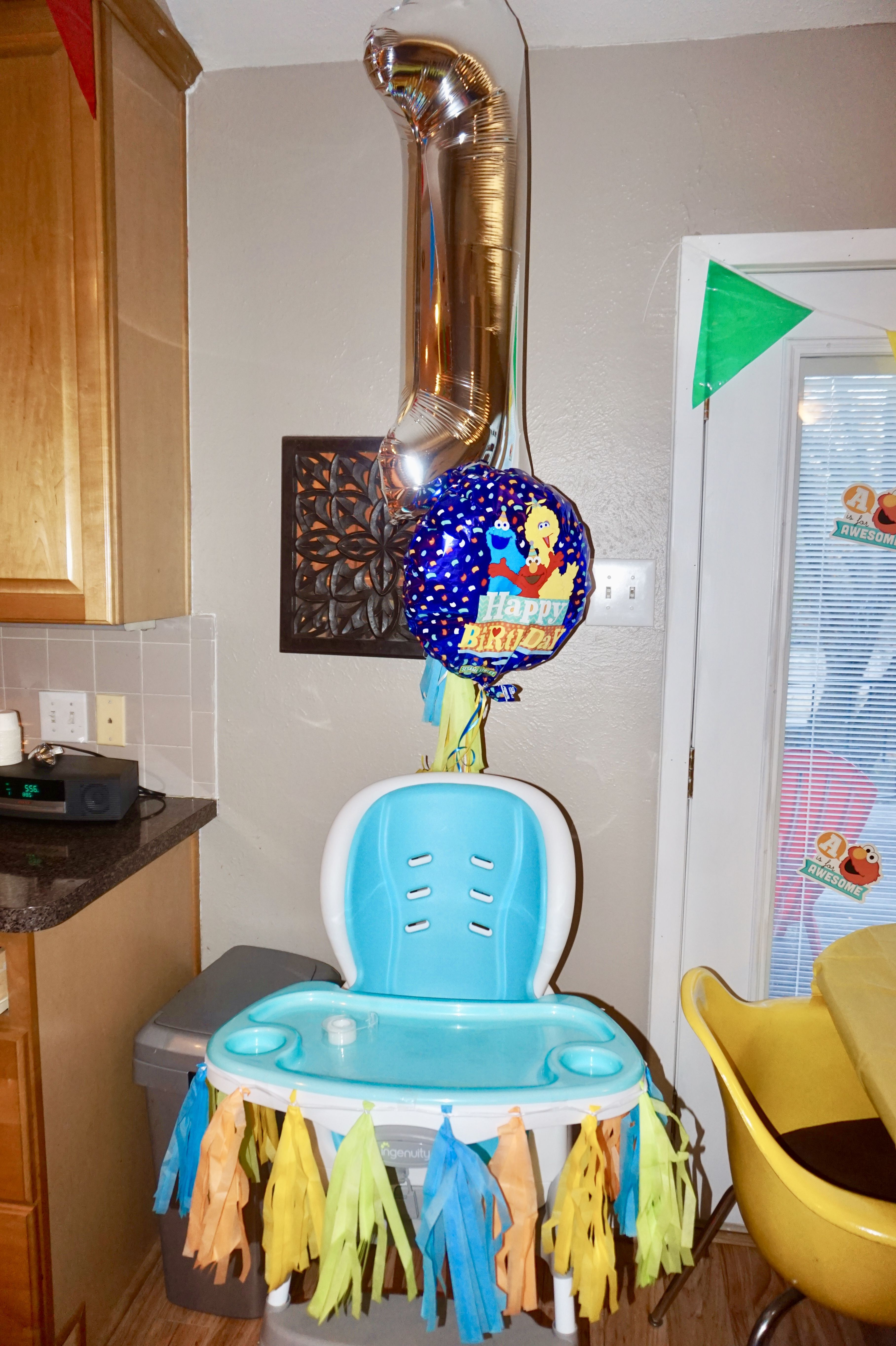 BUDGET FRIENDLY BIRTHDAY PARTY High Chair Birthday Decorations