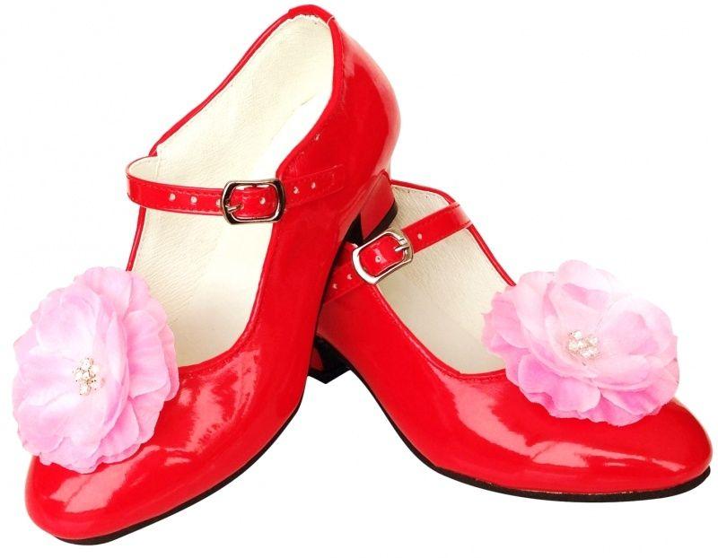 Prinsessen Schoenen Rood Bloem Wedding Rode Bloemen