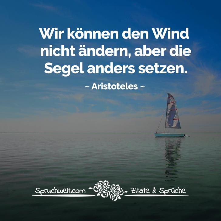 Wir können den Wind nicht ändern, aber die Segel anders ...