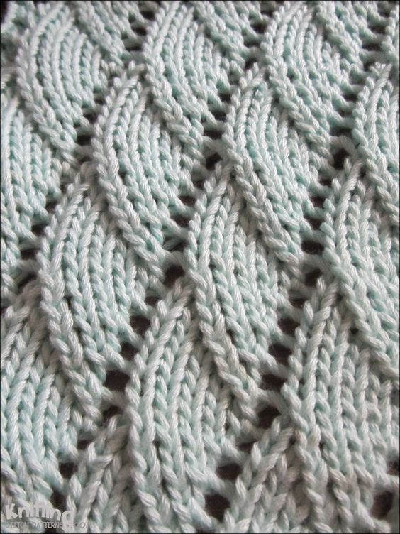 Overlapping Waves Knitting Pattern Knittingstitchpatterns