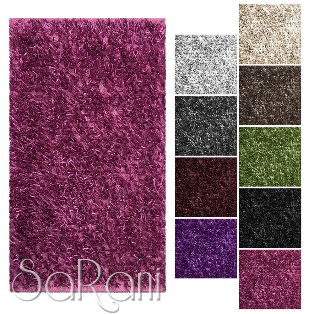 Tappeto Moderno Shaggy Varie Dimensioni e Colori Soggiorno Scendiletto  Sarani 02d5d70239f9