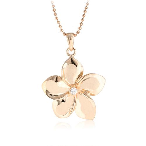 c240a542b 14k pink gold necklace 2 | I Like Shiny Things | Diamond pendant necklace,  Pendant necklace, Gold necklace