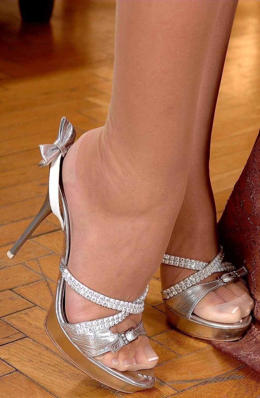 Pin on Heels & Nylon
