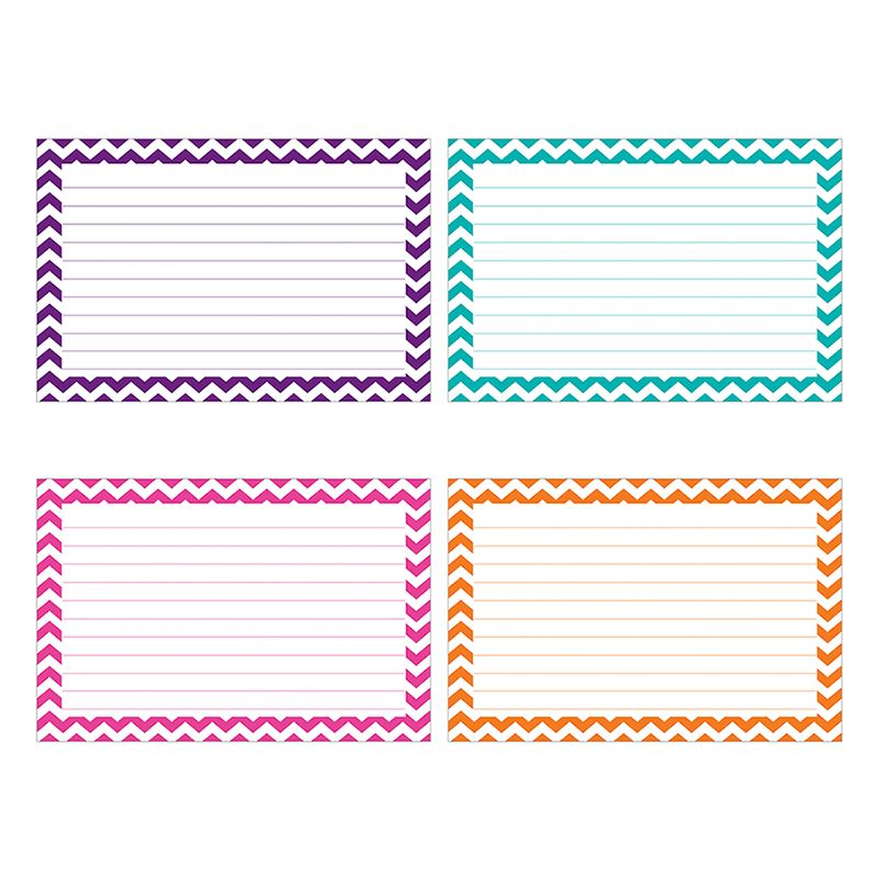Border Index Cards 3 X 5 Lined Chevron By Top Notch Top3550 Note Card Template Photo Card Template Index Cards