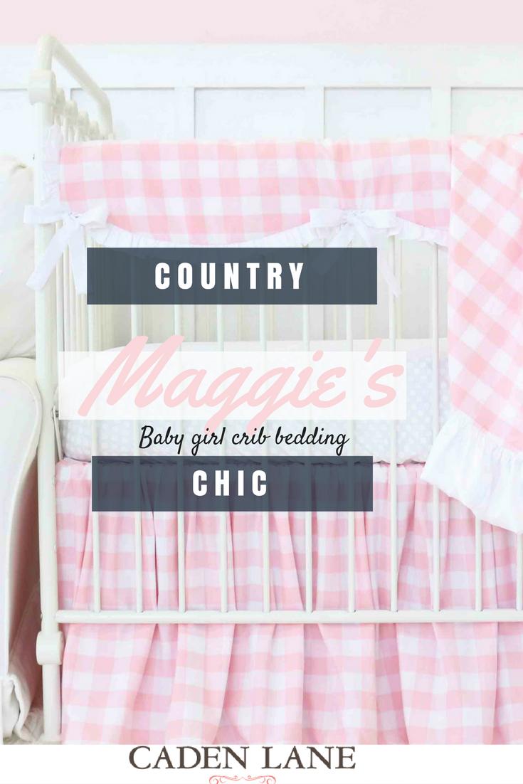Farmhouse Chic Girly Buffalo Check Plaid So Pretty Girl Nursery Pink Buffalo Plaid Nursery Crib Bedding Girl