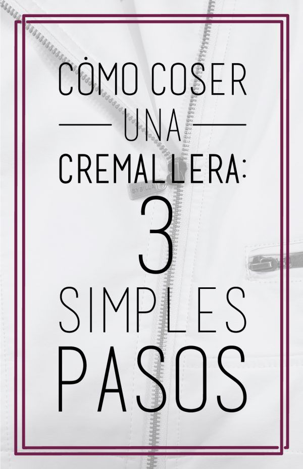 Cómo coser una cremallera en 3 simples pasos.   patrones   Pinterest ...