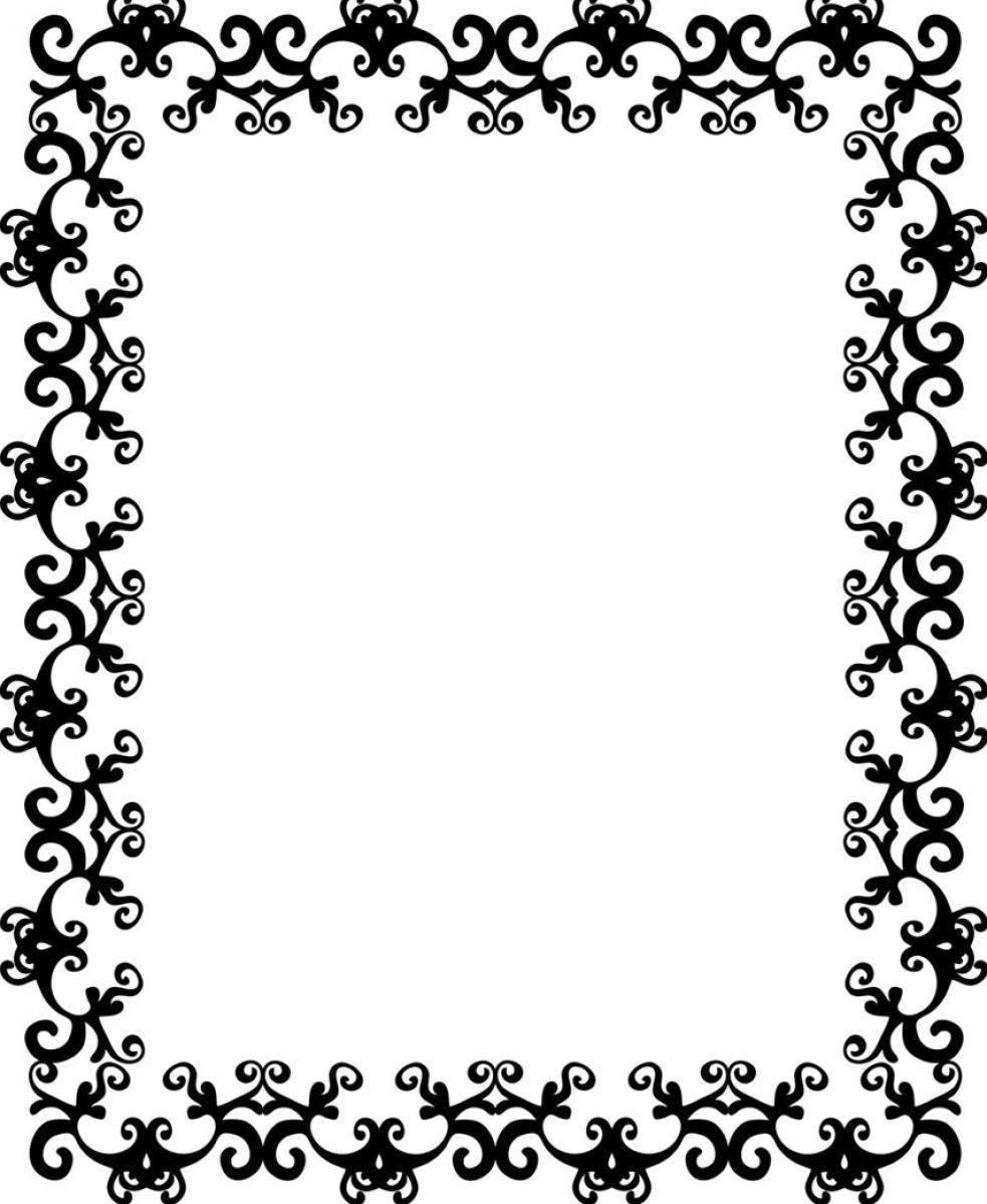 13 Free Black Border Designs Images - Simple Black Borders ...
