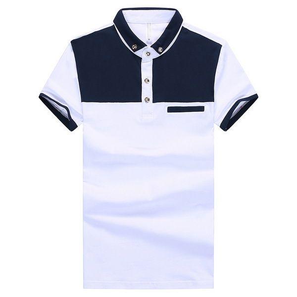 Slim Fit hombres moda camisas de Polo talla M 2XL da vuelta