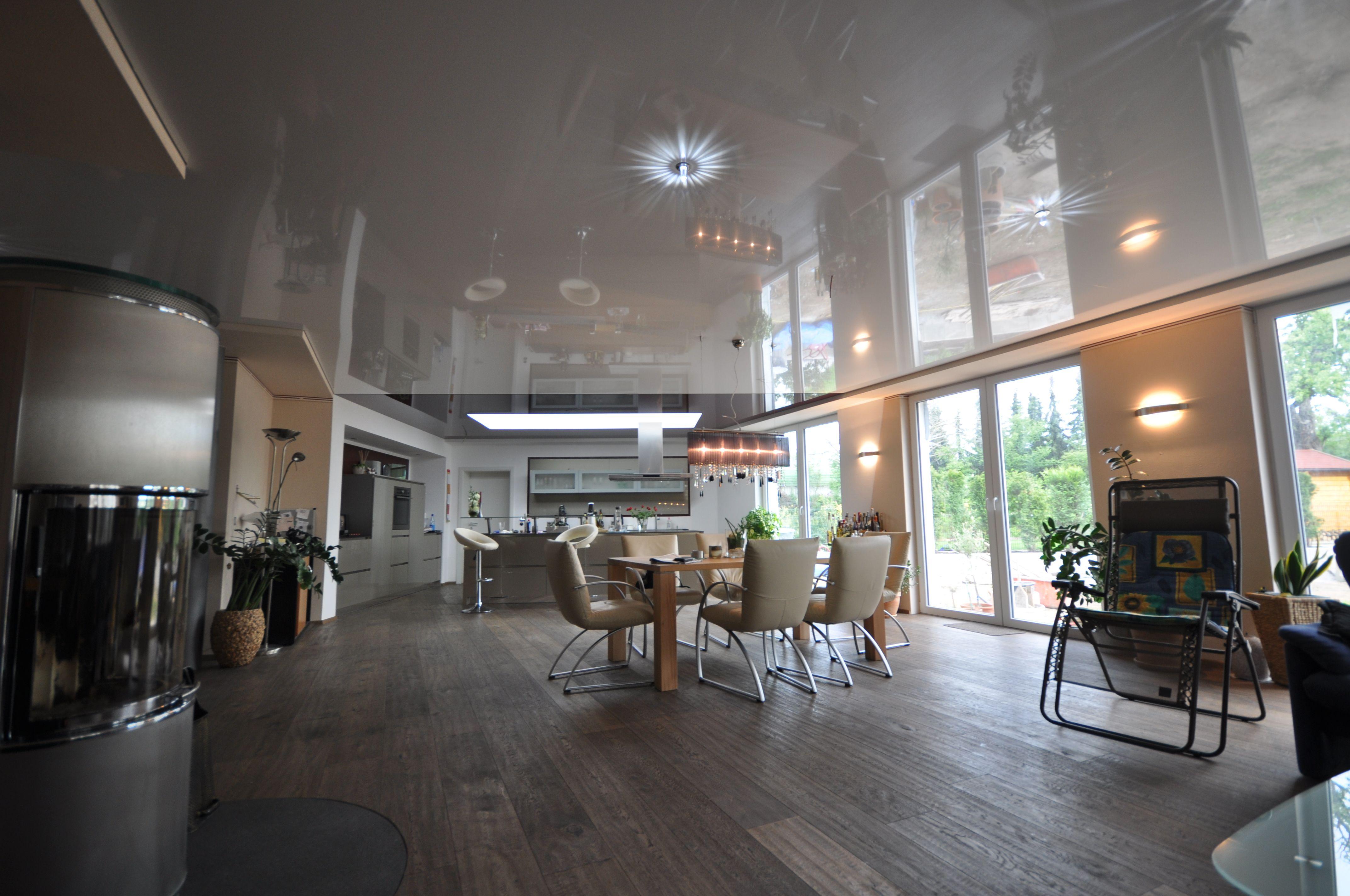 Swarovski Badezimmer ~ Spanndecke weiß hochglanz und swarovski strahlern wohnzimmer