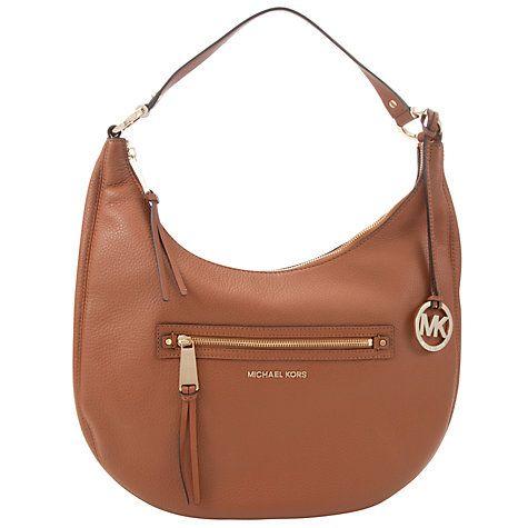 da2c012a364 Buy MICHAEL Michael Kors Rhea Large Leather Zip Shoulder Bag Online at  johnlewis.com