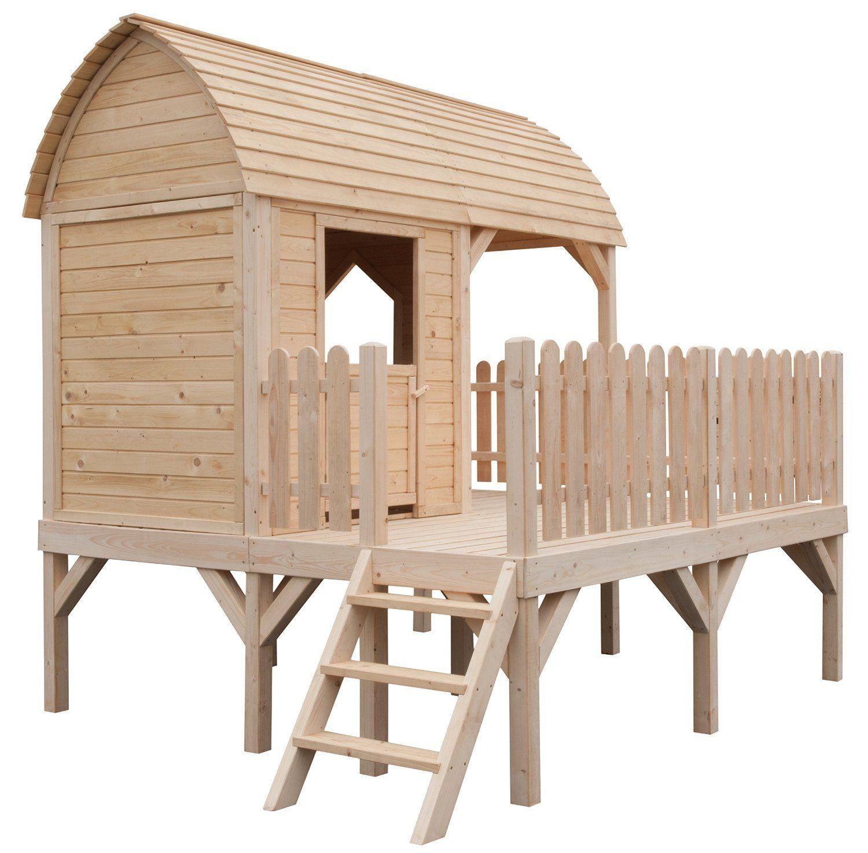 New Kinderspielhaus Holzhaus Gartenhaus MATHILDA Amazon de Garten