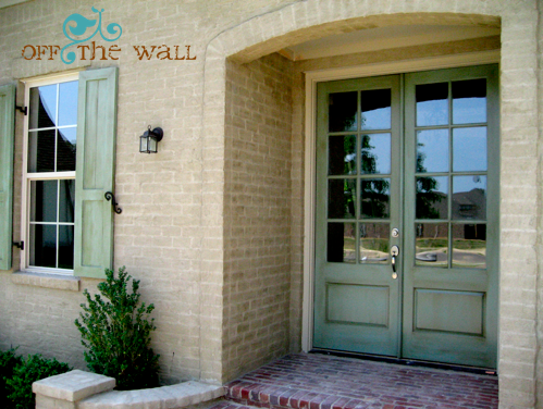french country front doors | Are there any painted brick homes ...