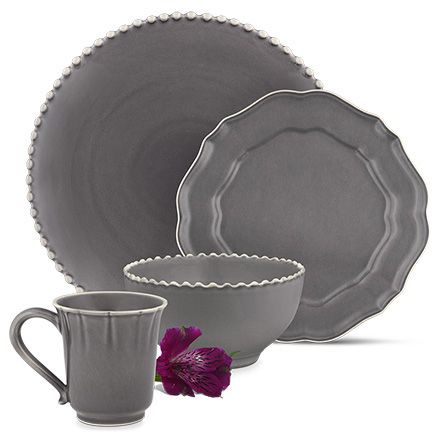 Avignon Grey Dinnerware (Set of 16)  sc 1 st  Pinterest & Avignon Grey Dinnerware (Set of 16) | Grey dinnerware Dinnerware ...