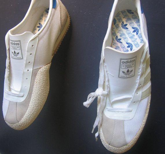 e42d5fbb0ef0 VTG Rare Original Design 3 Bande Adidas Fencing Shoes Made in France ...