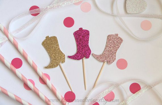 Hey, I found this really awesome Etsy listing at https://www.etsy.com/listing/194665143/pink-glitter-cowgirl-boot-cupcake