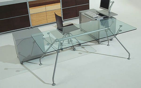 Prospero Executive Italian Glass Desks And Colourful Office Desks From  Laporta London