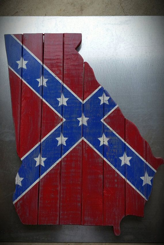 Georgia board with Rebel flag by TinkerTimebyConway on Etsy