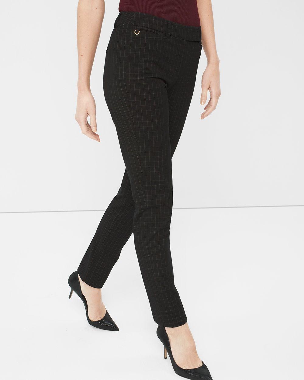 Premium Bi-Stretch Slim Ankle Pants