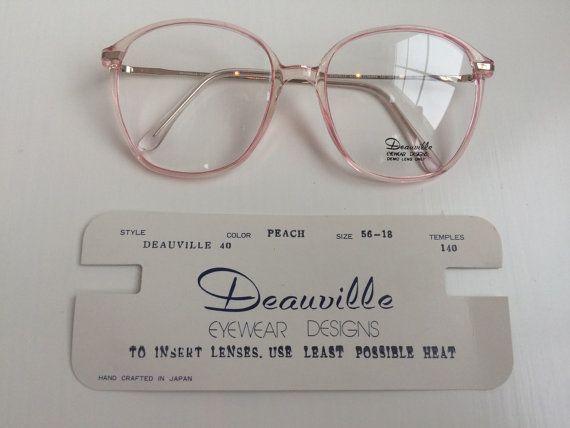 Vintage Pink Eyeglass Frames - Oversized Eyeglasses - Light Pink ...