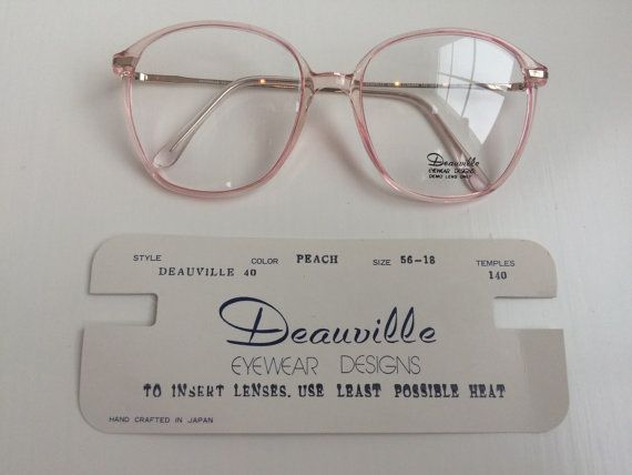a34bcc9056 Vintage Pink Eyeglass Frames Oversized by FairestInTheLandoll ...