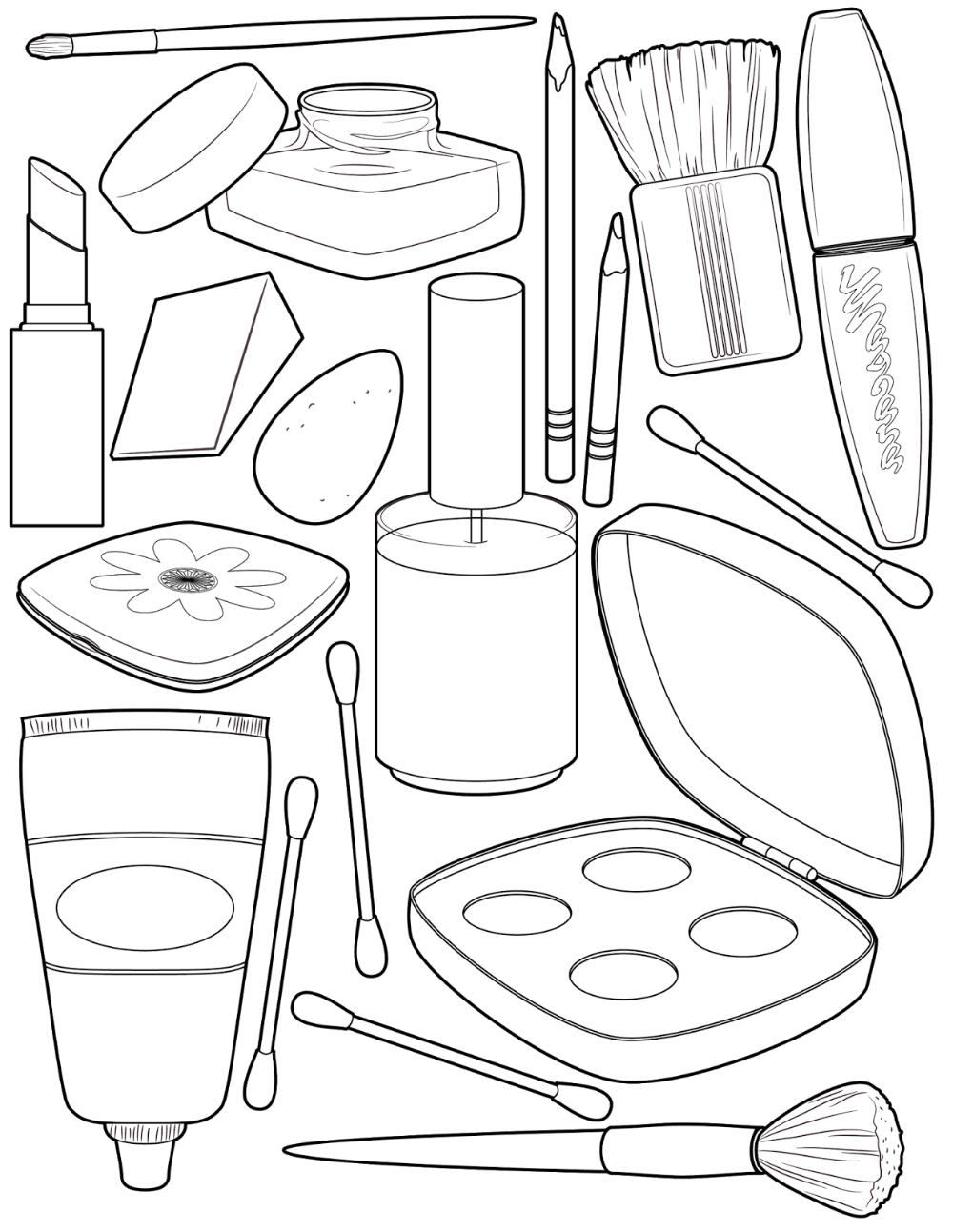 Makeup Coloring Pages For Girls Cute Coloring Pages Free Coloring Pages Coloring Pages