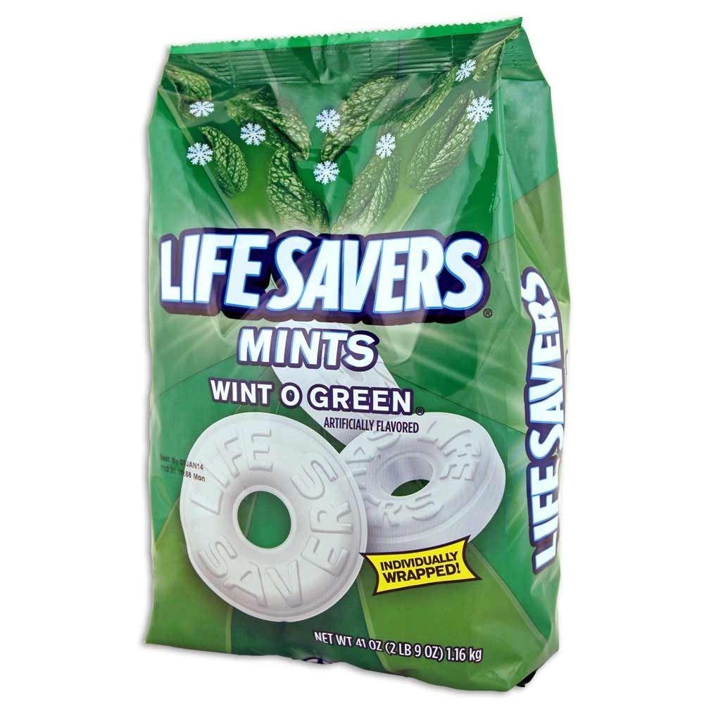 Lifesavers mints wint o green 41 oz bags 2 pack mint