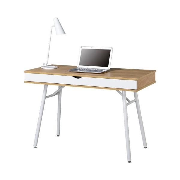 Techni Mobili 46 In Rectangular Pine White 2 Drawer Computer Desk With Built In Storage Rta 1462 Pn The Home Depot Desk Storage Particle Board Modern Computer Desk