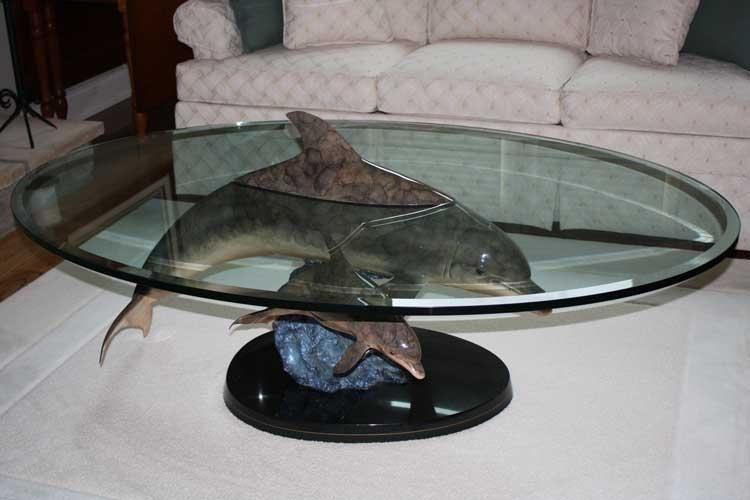 Above And Below Dolphin Table Dolphin Decor Dolphins Coffee Table