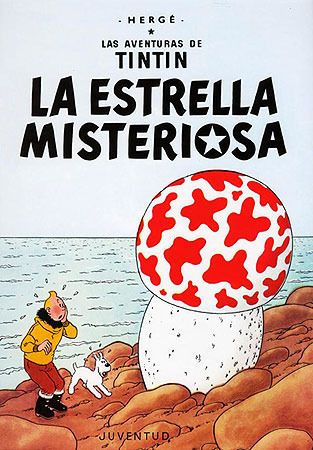 La estrella misteriosa • Tintin and the Shooting Star cover • Tintin, Herge j'aime