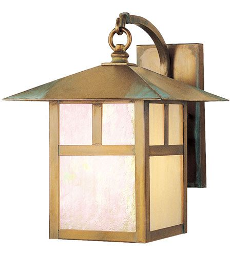 Livex Lighting Montclair Mission 1 Light Outdoor Wall Lantern in Vintage Brass 2133-93 #lighting
