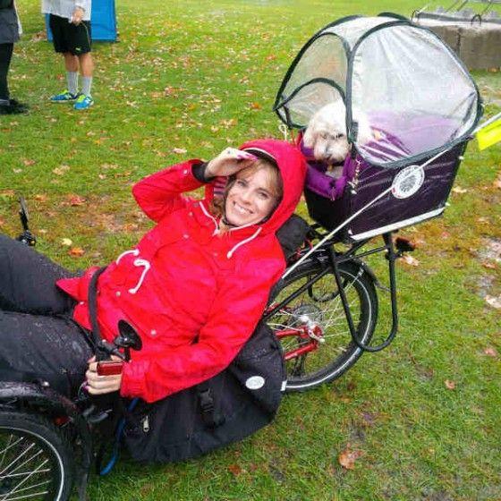 My Recumbent Trike Ice Sprint Fs Customization Including Lighting Flag Pole Adjustments Cushioning And How To Take Your Dog On Journ Trike Bike Tour Bike