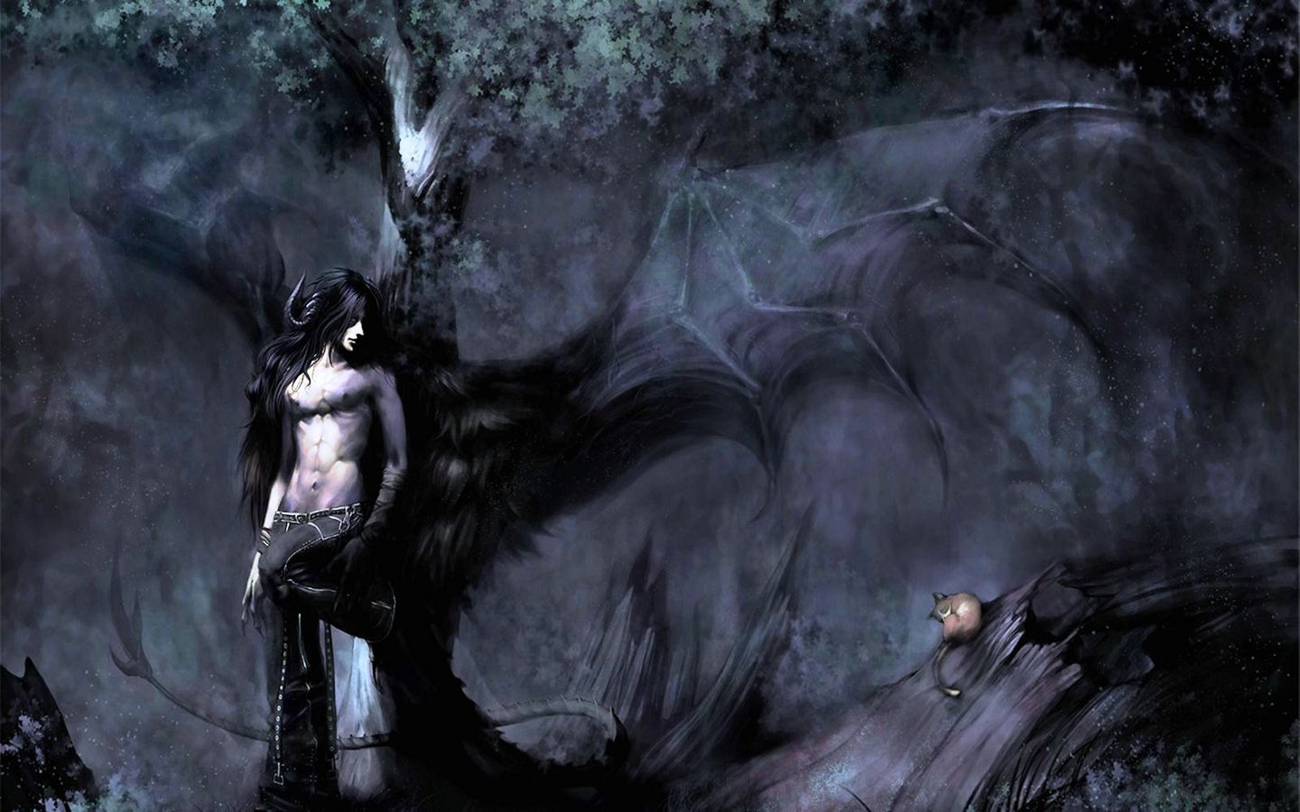 anime demon with black wings Google Search ss5