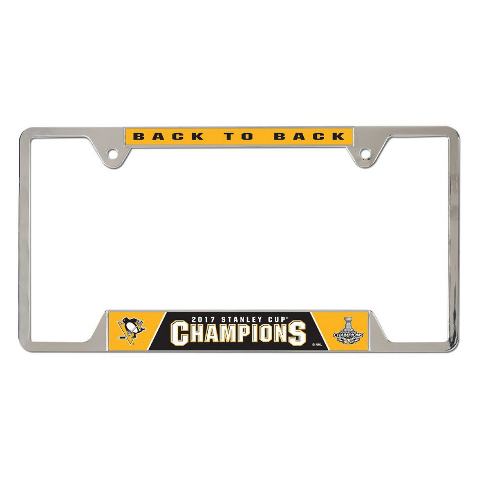 Pittsburgh Penguins 2017 Stanley Cup Champions License Plate Frame ...