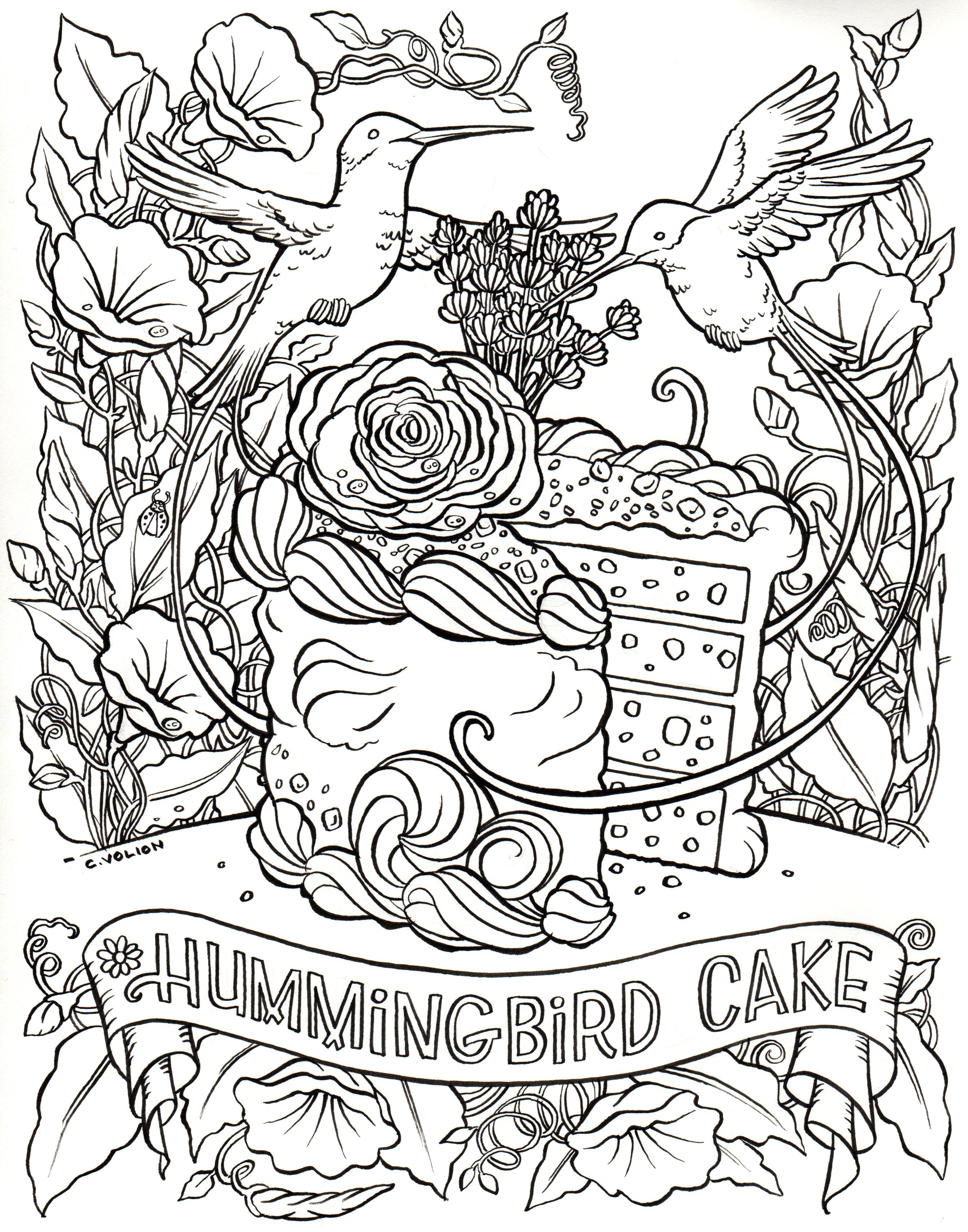 The Fantasy Cake Color and Bake Cookbook - a coloring and baking ...