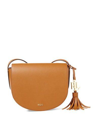 2e38e3cfcb13 Lauren Ralph Lauren Mini Caley Saddle Bag Women s Brown